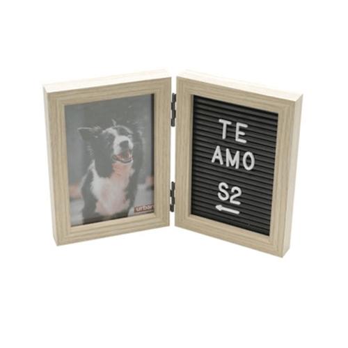 Porta Retrato de Madeira com Mensagem