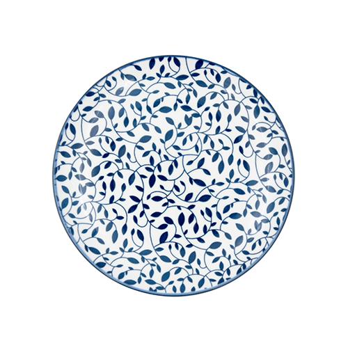Prato de Porcelana Azul e Branco