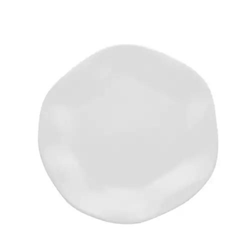 Prato de Sobremesa de Porcelana 21,5cm - Branco - RA03-9504