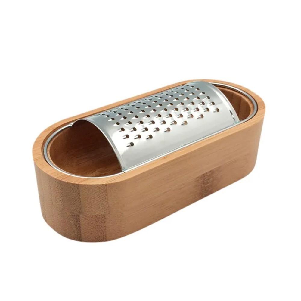 Ralador de Mesa com Recipient4e de Bambu