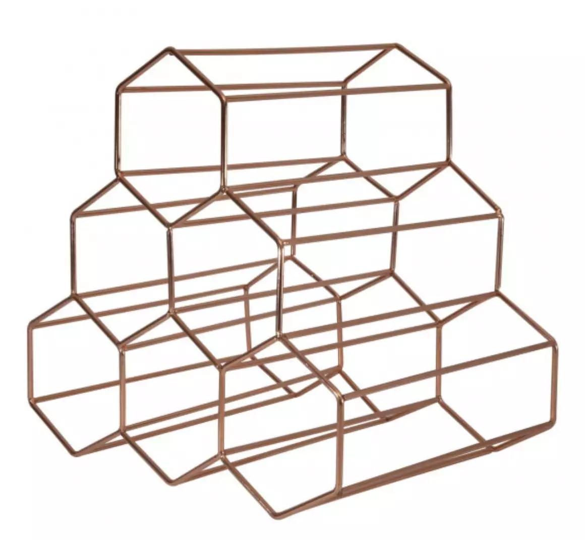 Suporte p/ Garrafas de Vinho Geometrics 6 Garrafas 28x22x26,5cm