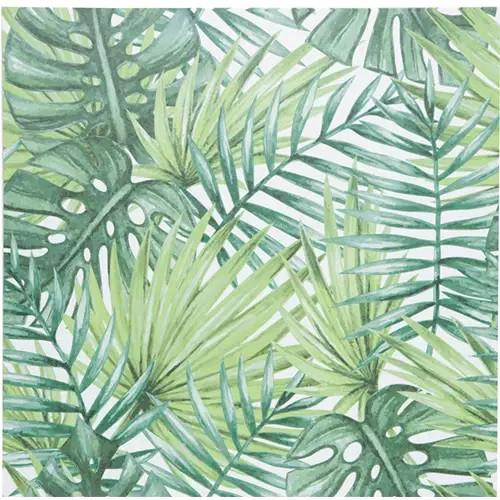 TELA PALM TREE LEAVES VERDE 40X40X1.5CM
