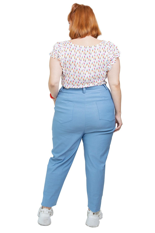 Blusa Pipa com babados Plus size Off white