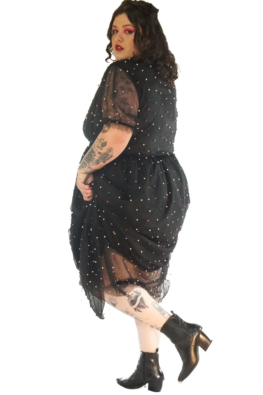 Vestido princesa vintage preto plus zise