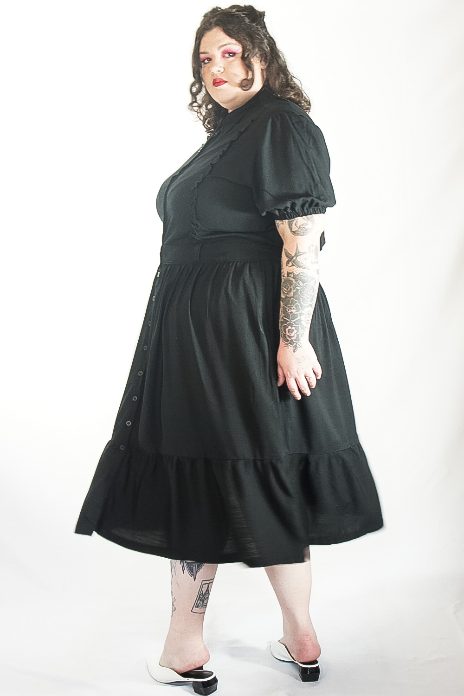 Vestido Vintage Classic preto plus size
