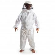 Macacão para apicultura  em nylon com ventilação e máscara destacável com tela preta