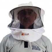 Máscara simples para apicultura em nylon t. preta com chapeu kroyal - Tamanho único