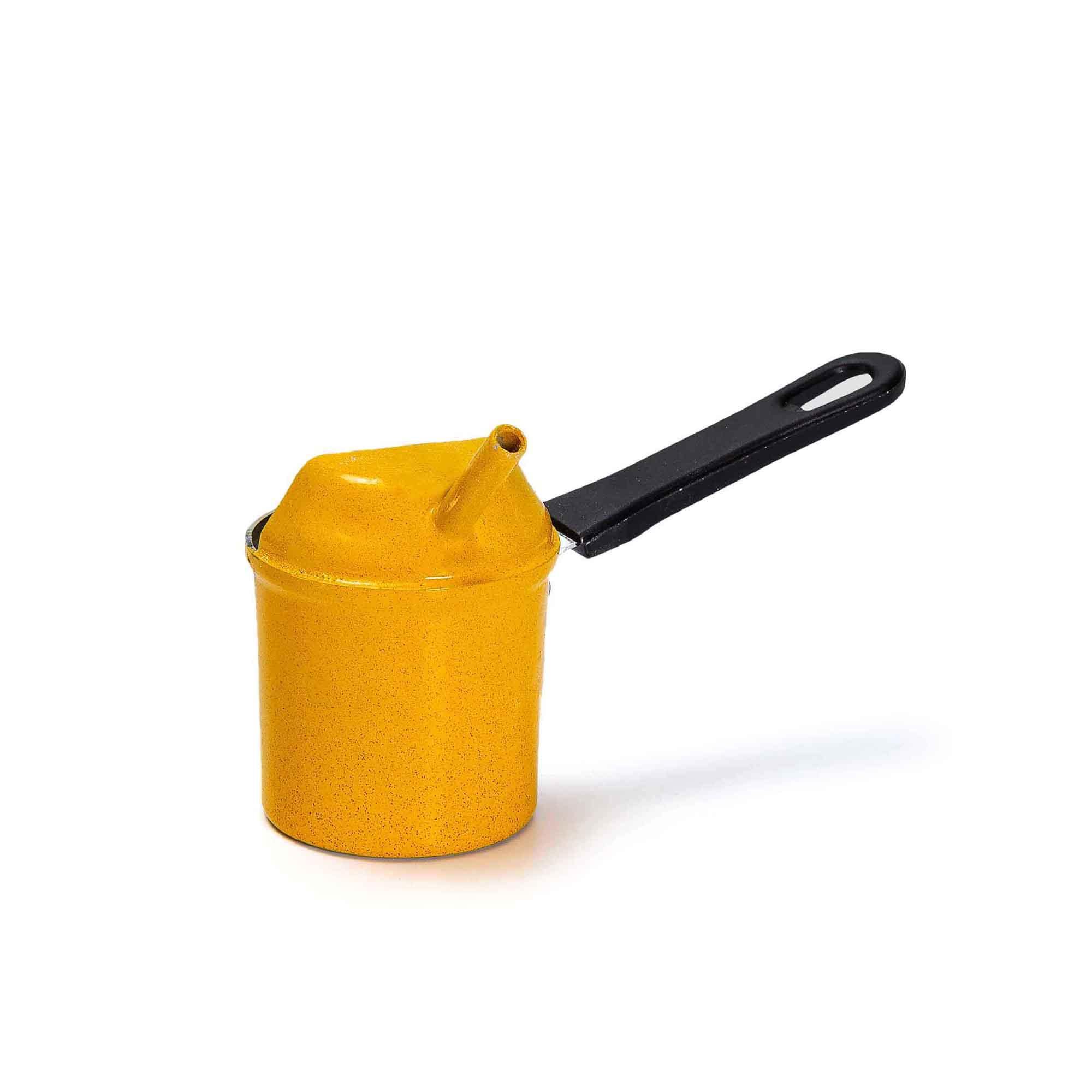 Caneco para cera de abelha em alumínio c/ cabo baquelite
