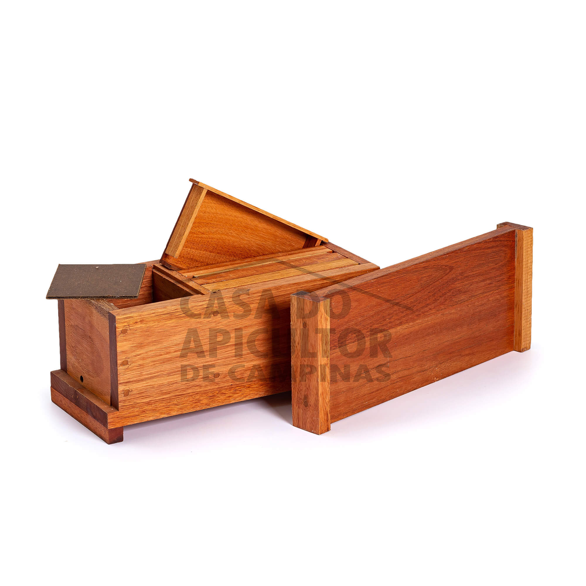 Colmeia Abelha Jatai - Modelo horizontal Eucalipto
