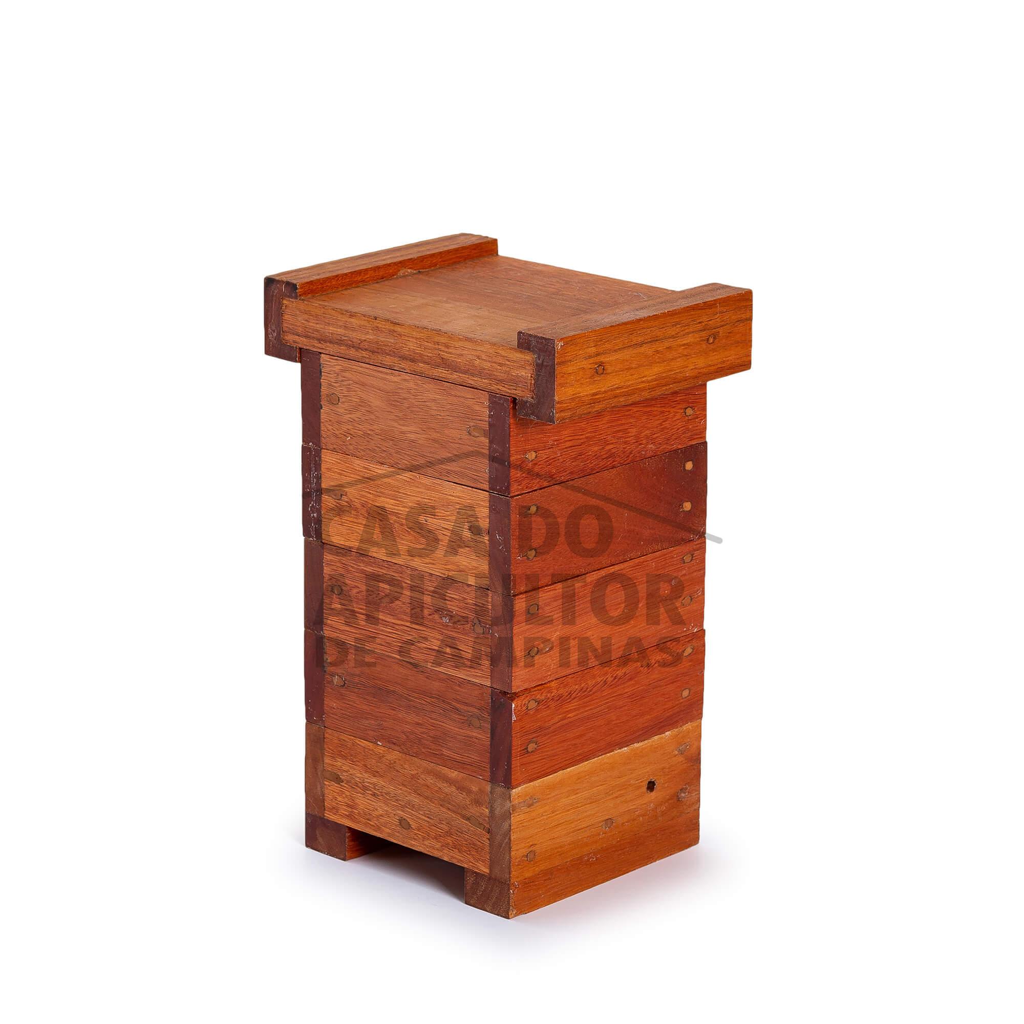 Colmeia INPA para abelha jataí 10.6x10.6 cm