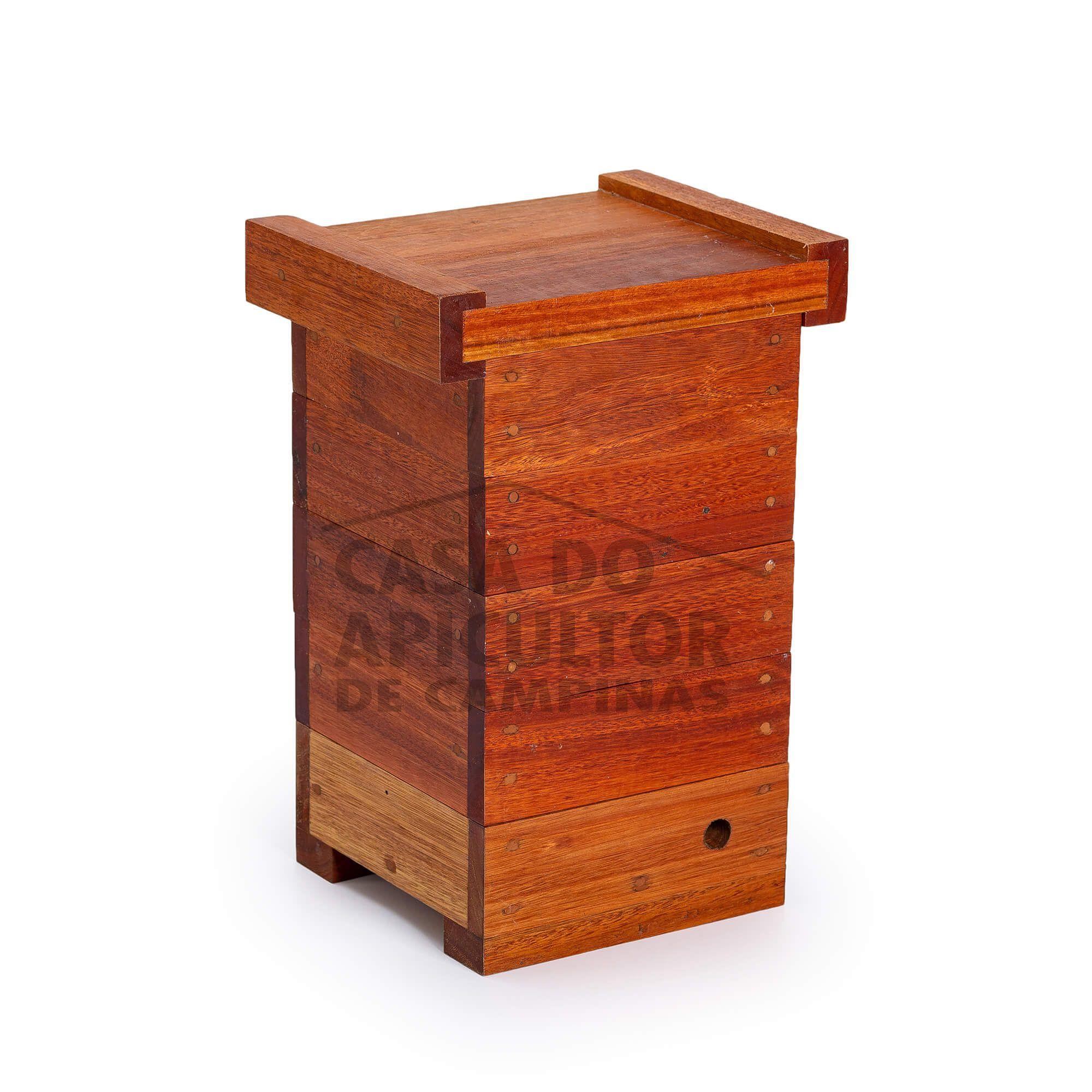 Colmeia INPA 14.6x14.6 para abelhas sem ferrão - Eucalipto 30mm