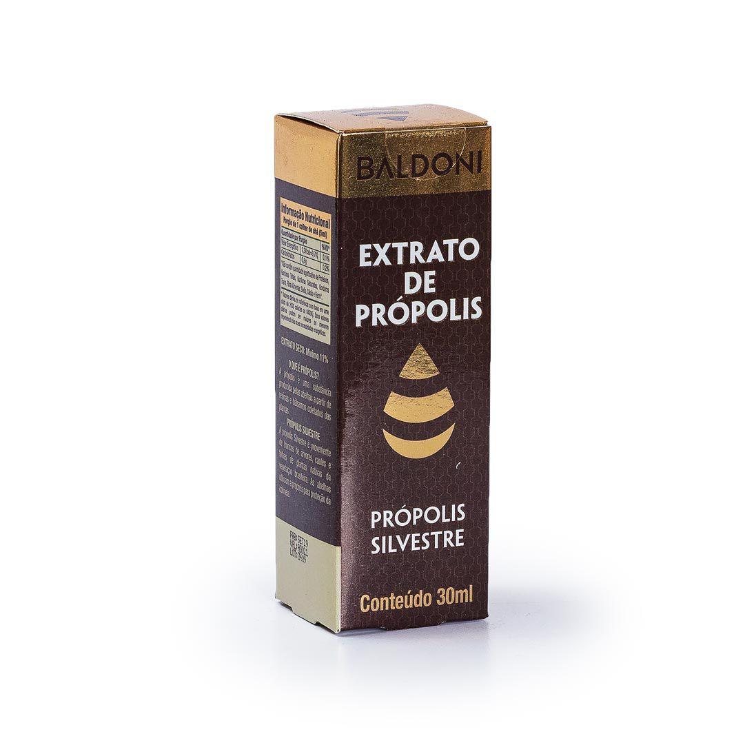 Extrato de própolis silvestre 11% 30ML - Baldoni