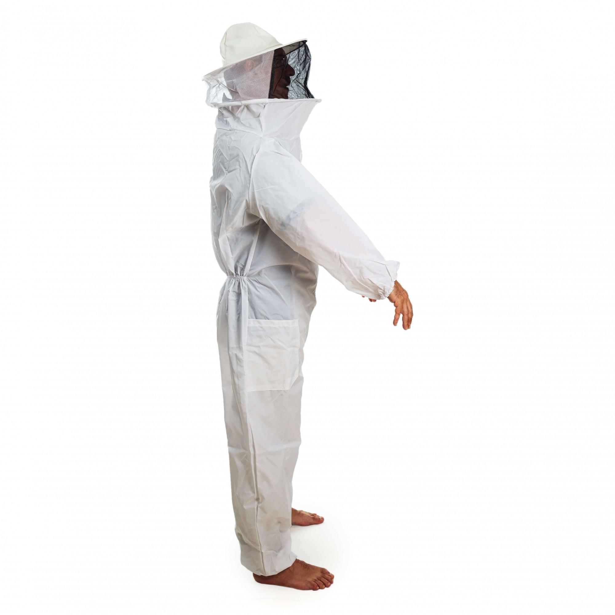 Macacão para apicultura em nylon com ventilação nas costas
