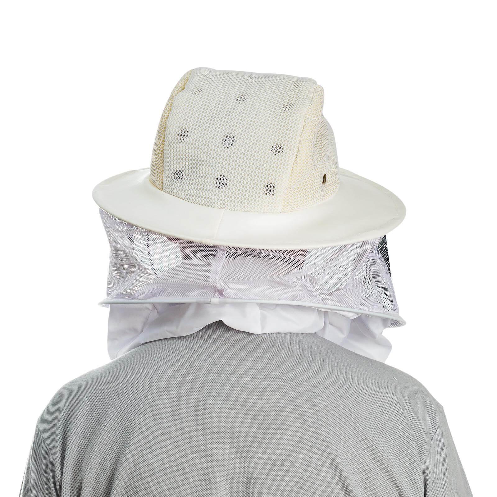 Máscara para apicultura c/chapeu  ventilado t. preta - Tamanho único