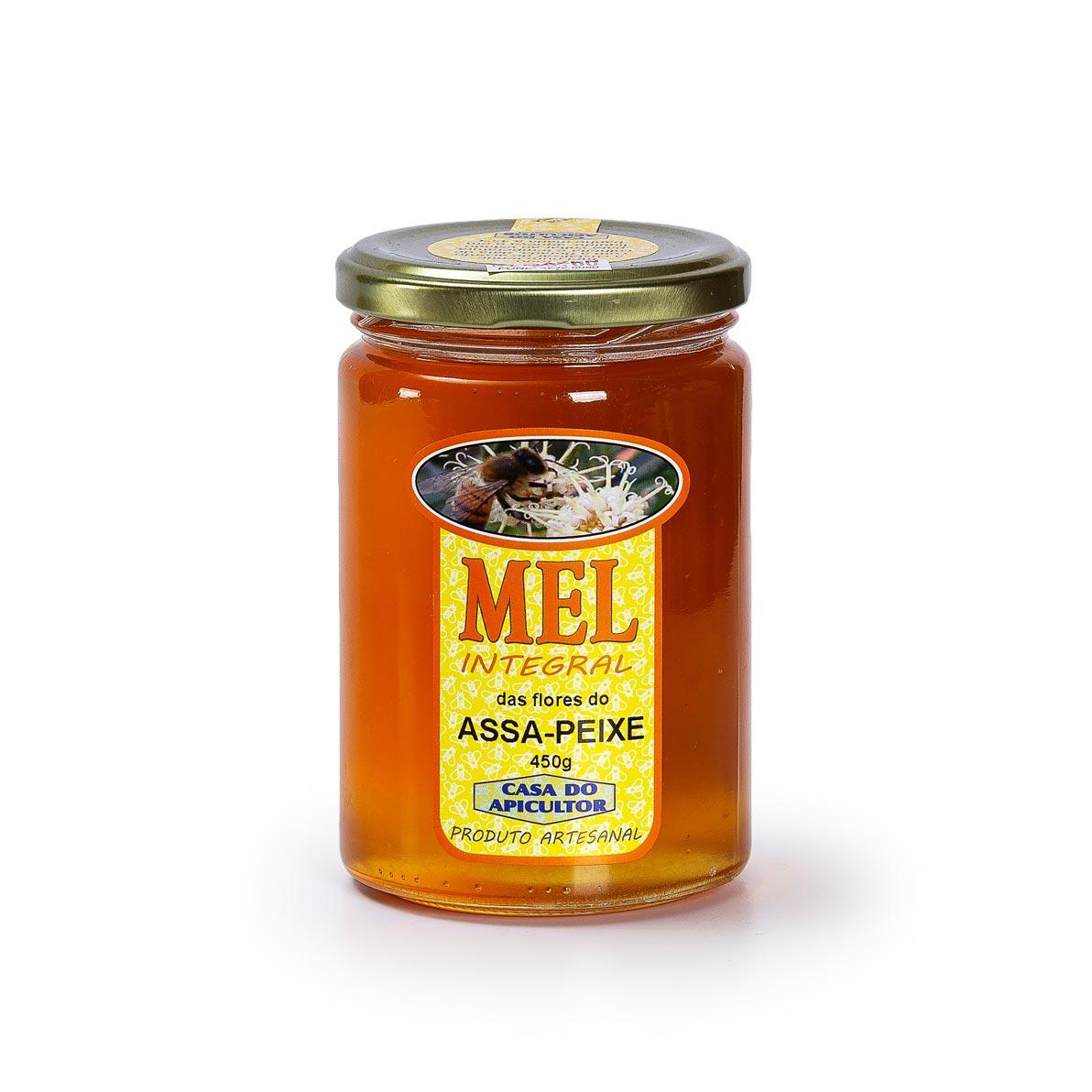 Mel Assa-peixe 450g artesanal -  Casa do Apicultor