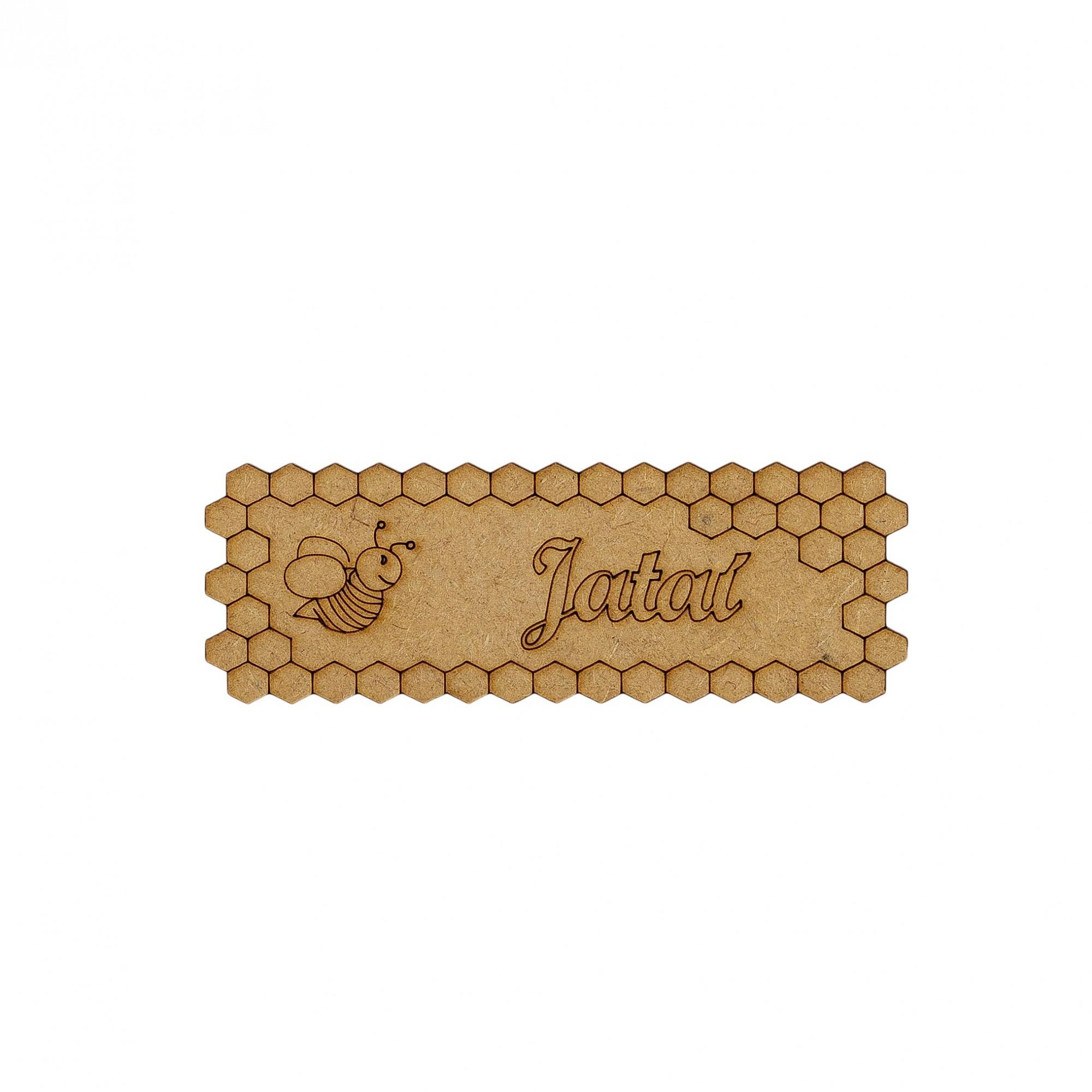 Placa de identificação abelha Jataí - IC