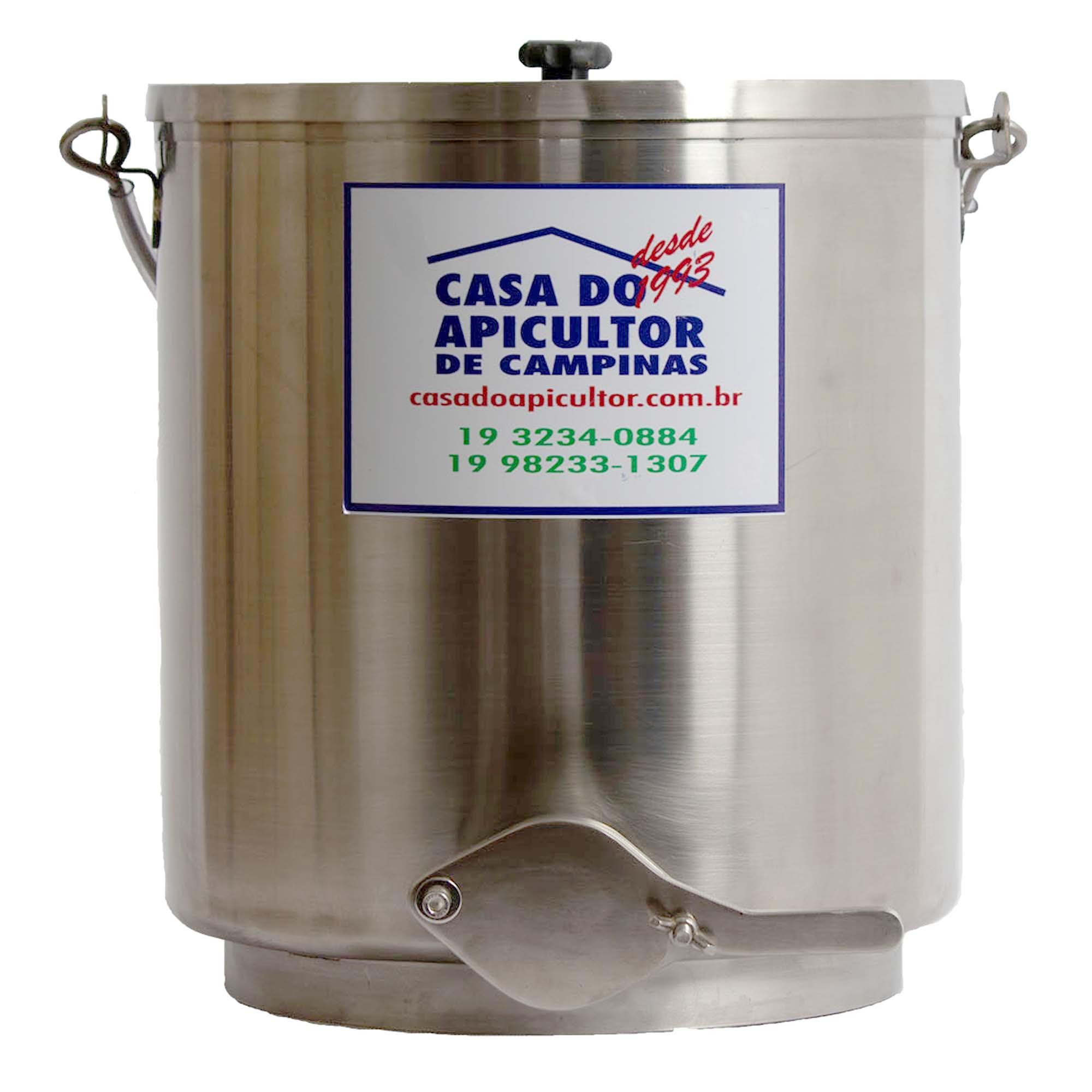 Tanque decantador de mel com torneira - 25kg