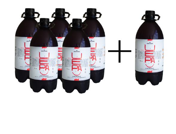 5 IPAs Growler (1L) + 1 gratis