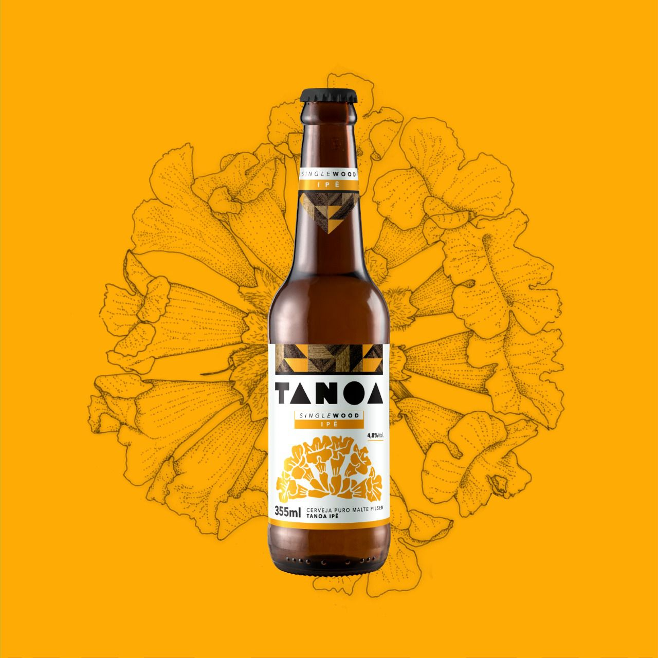 Cerveja Artesanal Tanoa Pilsen - Single Wood: Ipê - 355 ml
