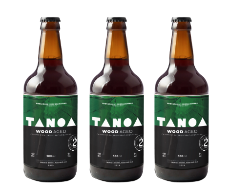 KIT TANOA OLD ALE - Wood Aged: Jaqueira Castanheira Amburana (3 unidades) 500 ml
