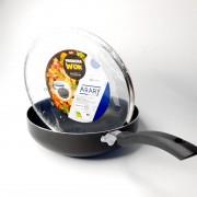 Frigideira Alumínio Antiaderente wok c/tampa de vidro N 28 Arary