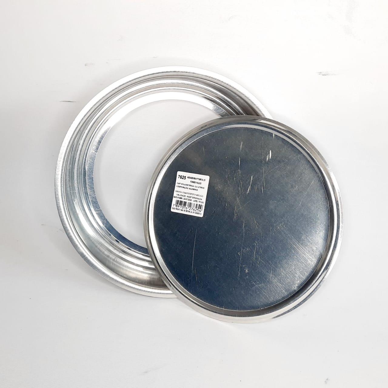Assadeira Alumínio Fundo Falso N 25 Real