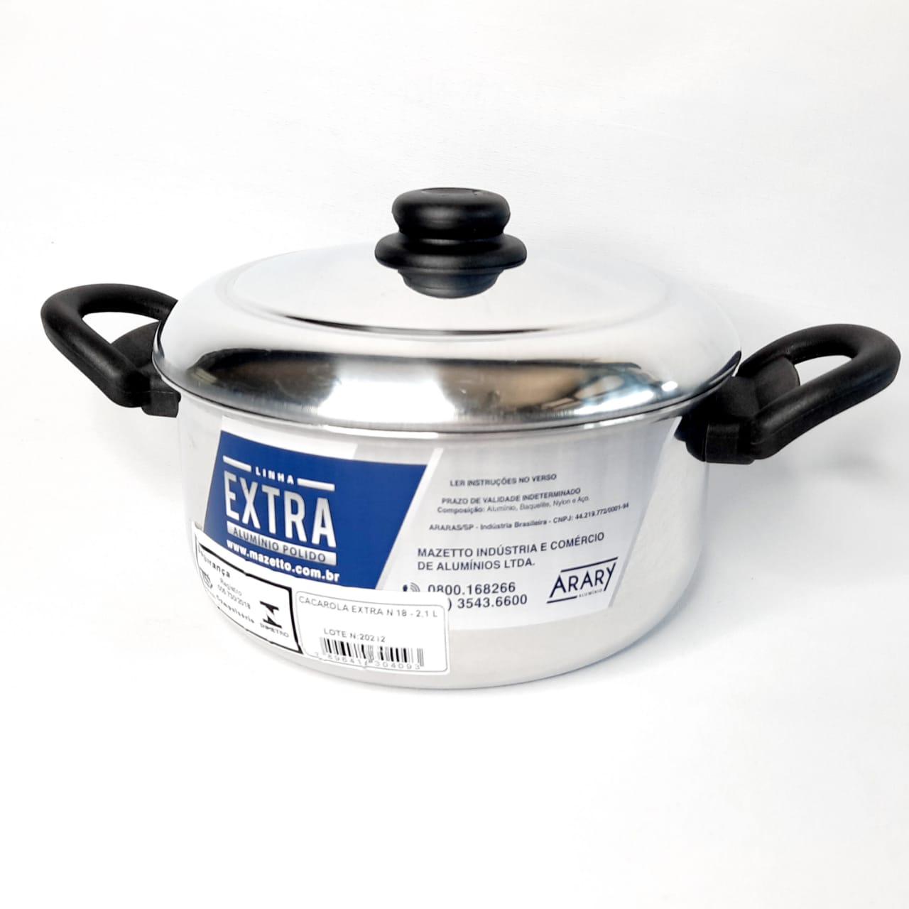 Caçarola Alumínio N 18 Extra Arary