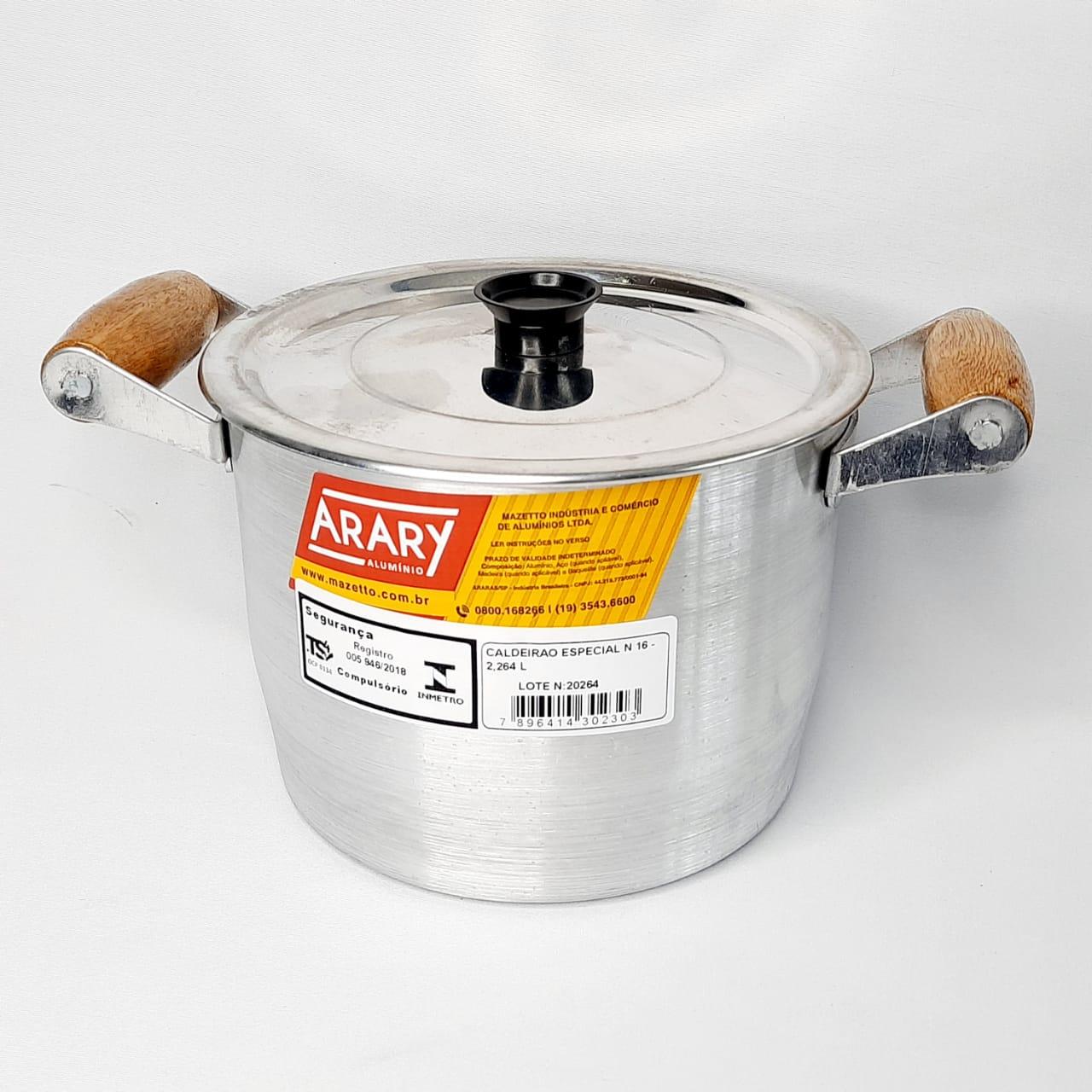 Caldeirão Alumínio Fundido N 16 Arary