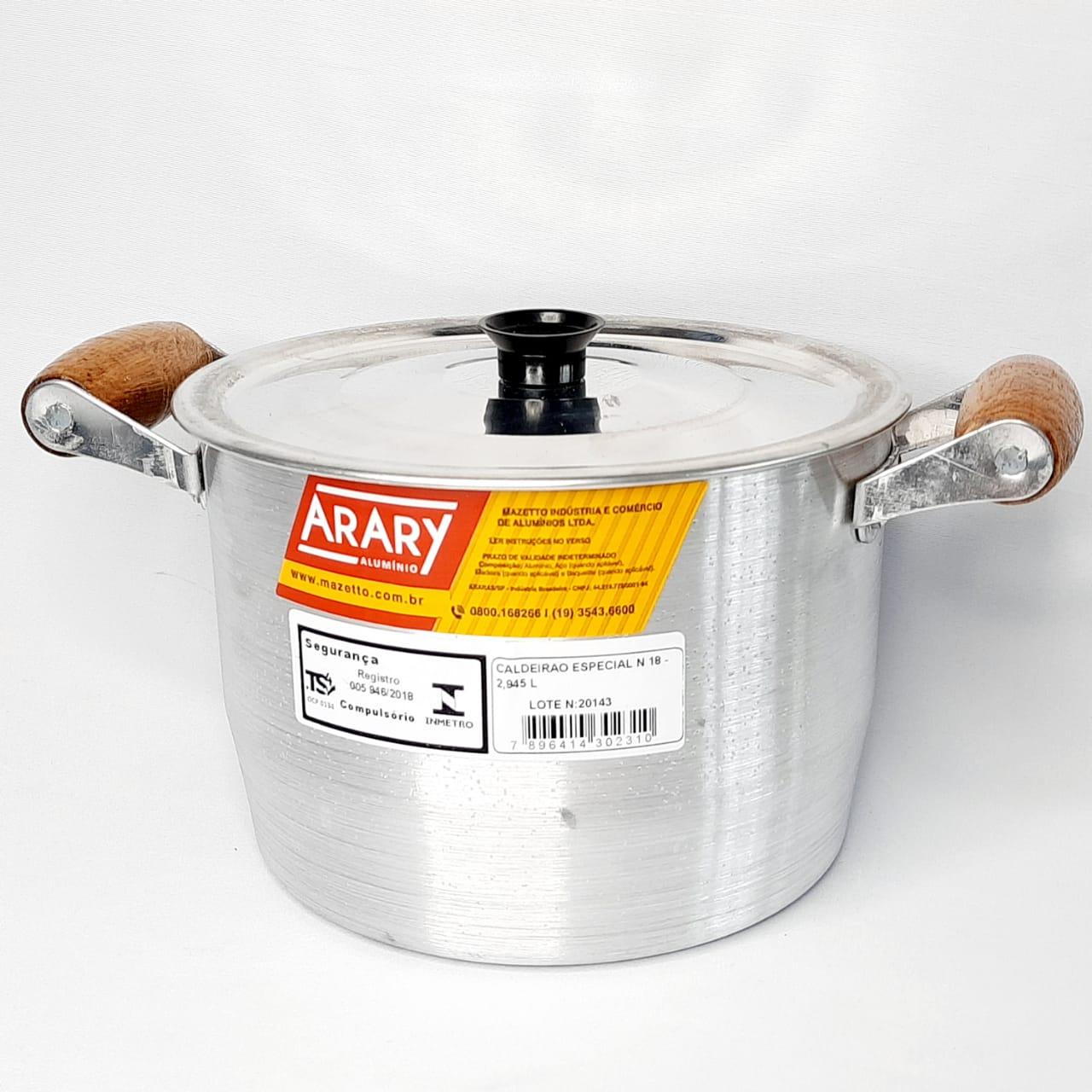 Caldeirão Alumínio Fundido N 18 Arary