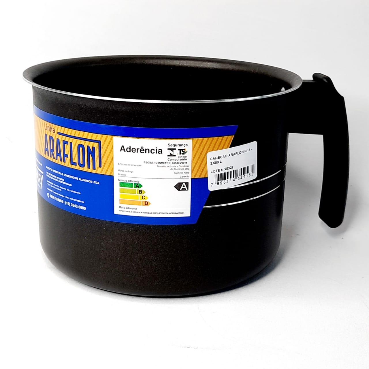 Caneca Alumínio Antiaderente N 16 Arary