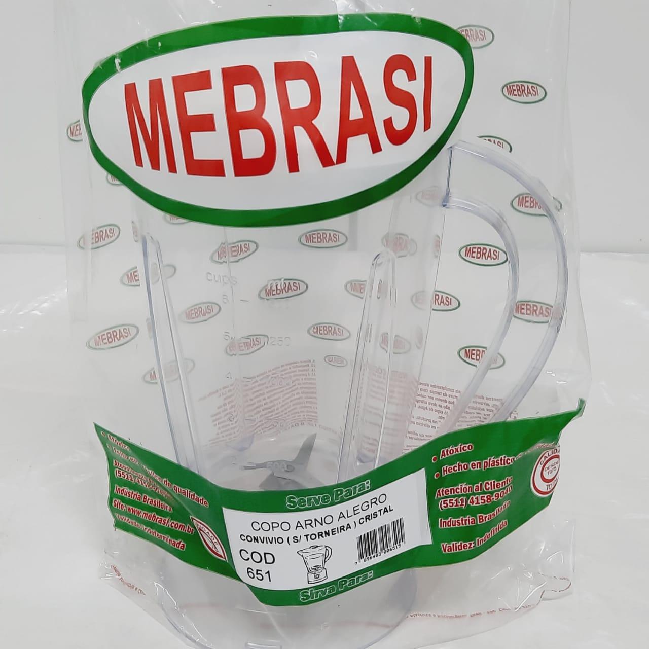 Copo Arno Cristal Alegro Clean - Mebrasi