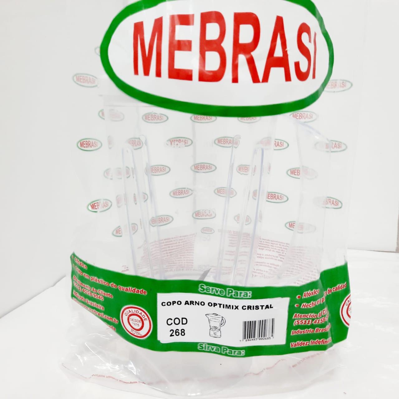 Copo Arno Cristal Optimix - Mebrasi