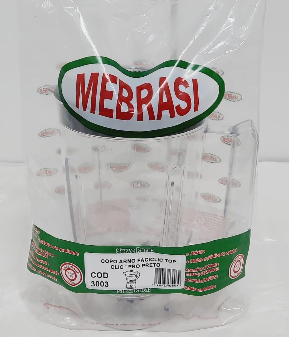 Copo Arno Cristal Preto Faciclic - Mebrasi
