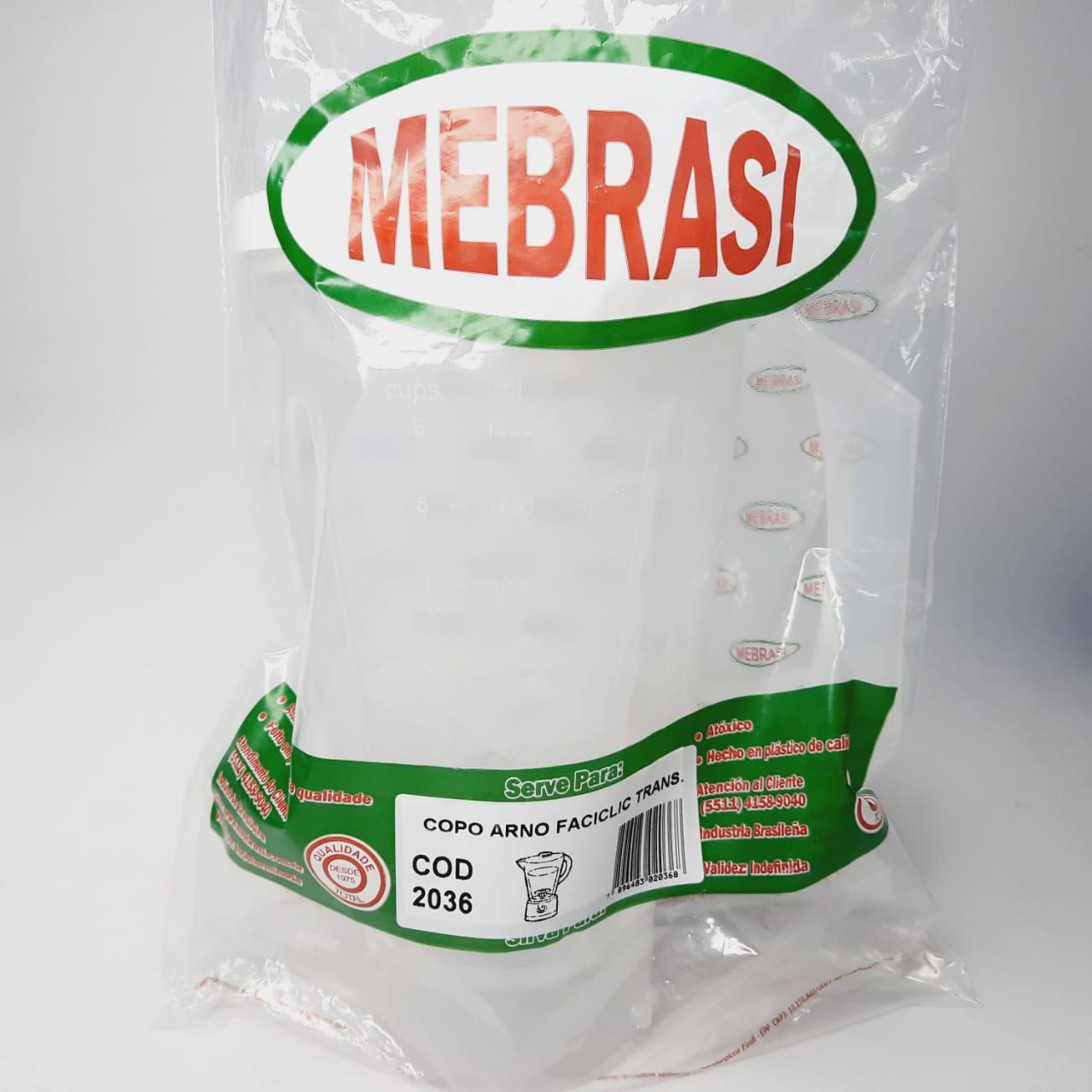 Copo Arno Translúcido Faciclic - Mebrasi
