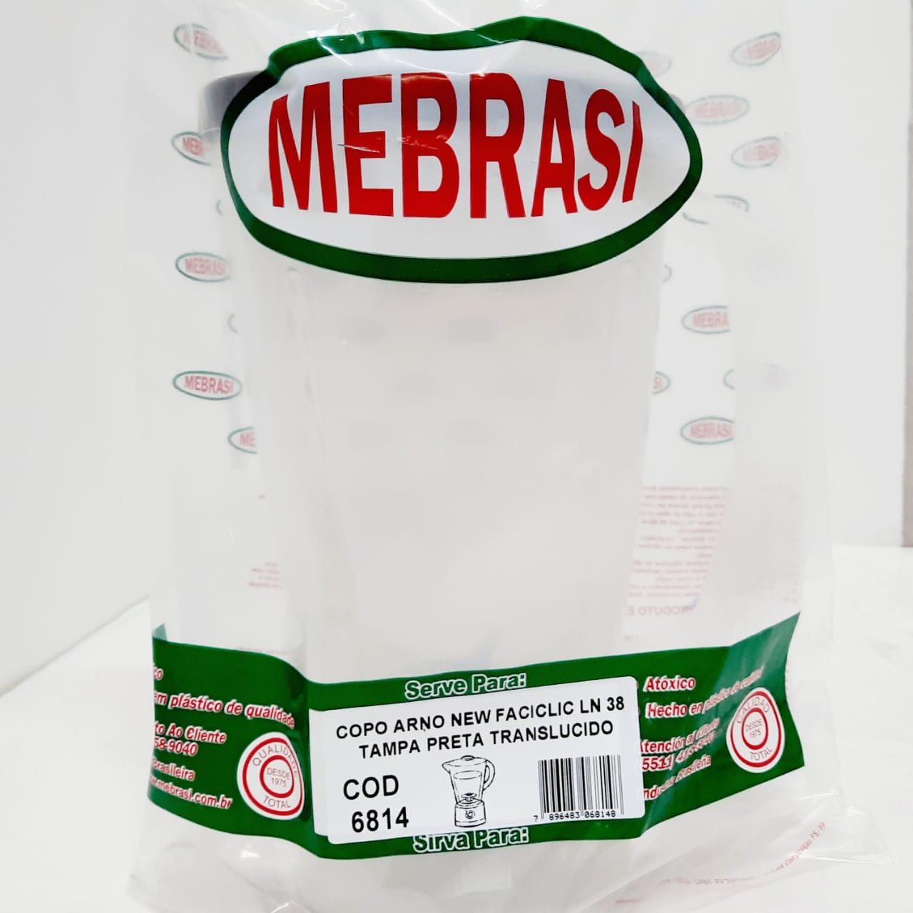Copo Arno Translúcido NEW FACIC LN38 - Mebrasi
