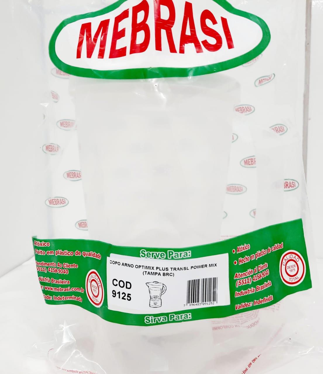 Copo Arno Translúcido Optimix Plus TB - Mebrasi