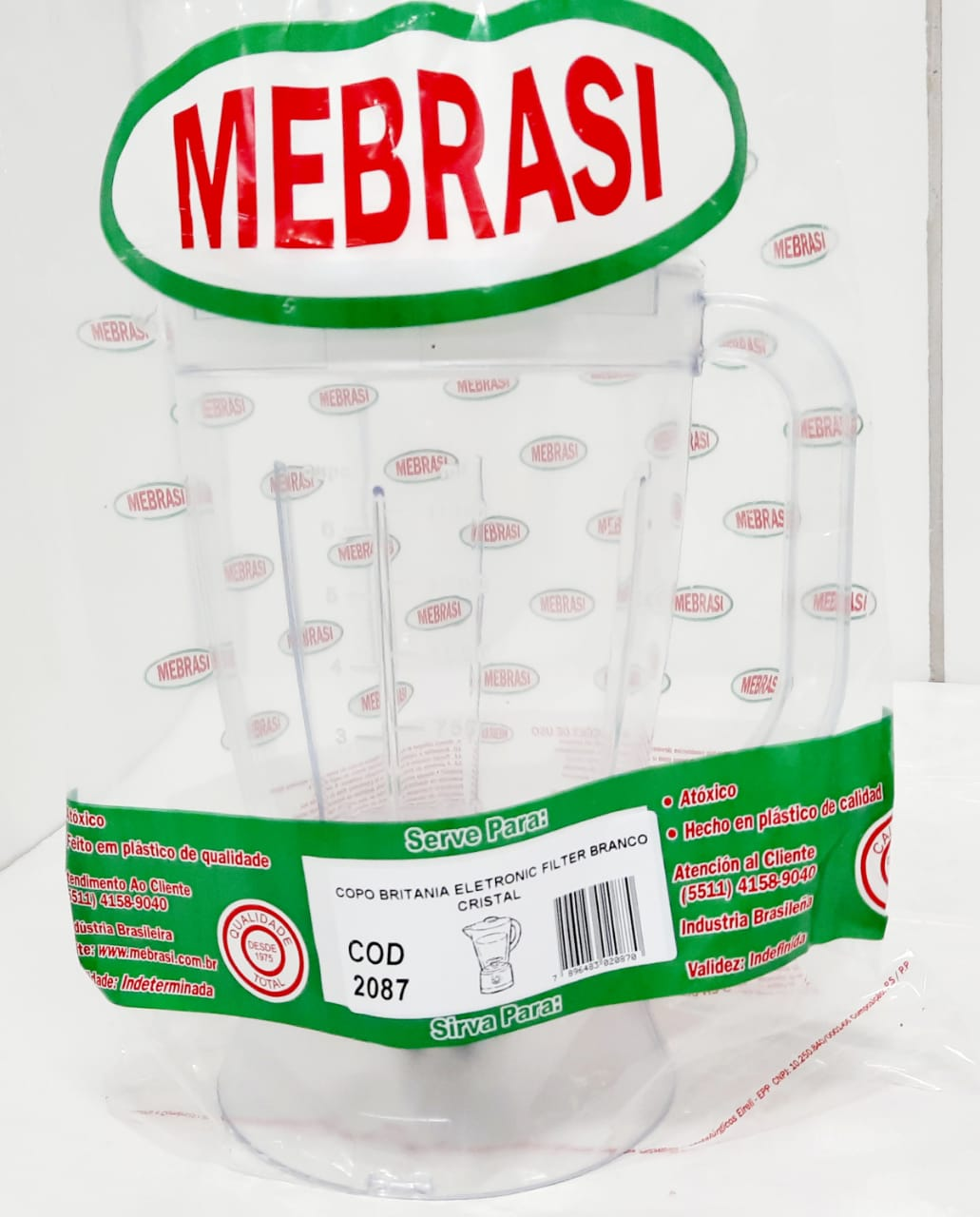 Copo Britânia Cristal ELETR/FILT - Mebrasi