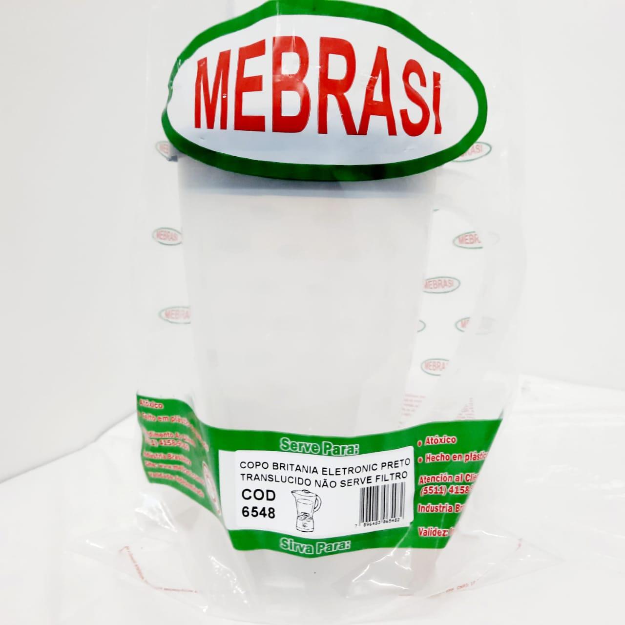 Copo Britânia Translúcido ELETR PTO - Mebrasi
