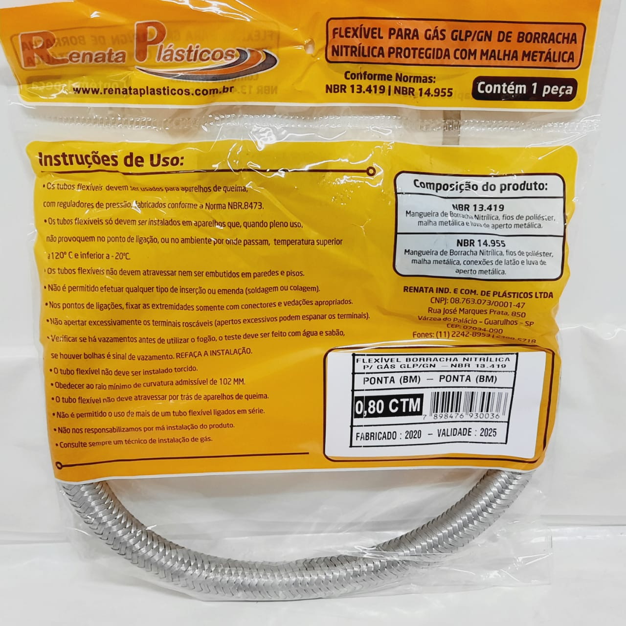 Flexível Nitrílico P X P 0,80CTM REN