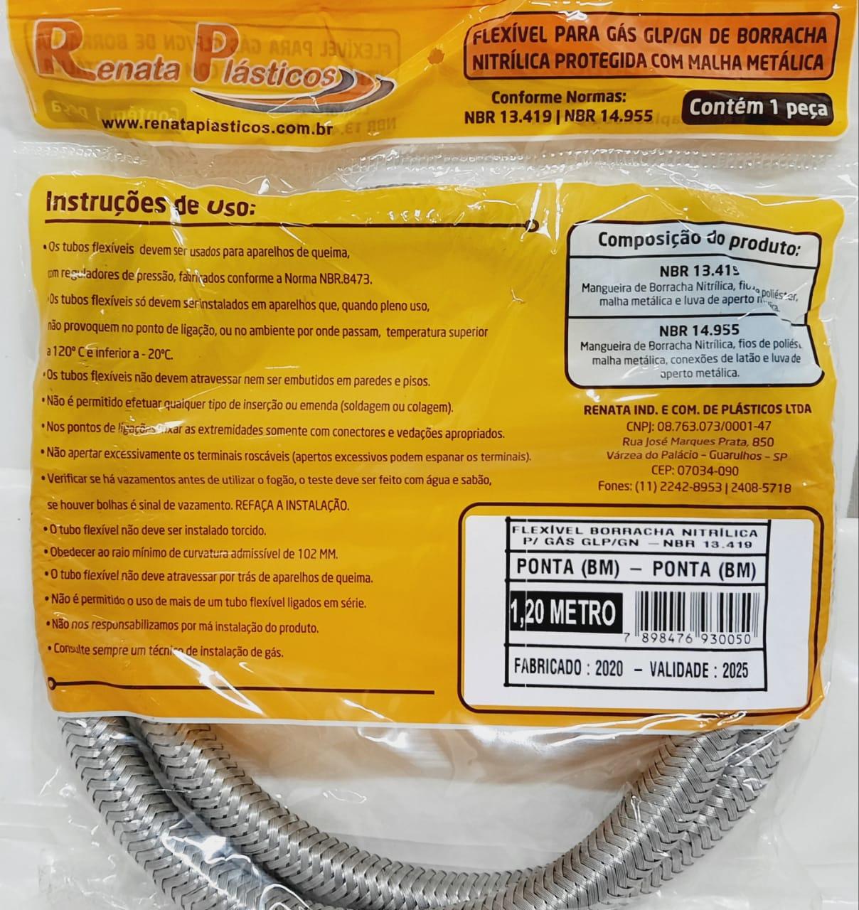 Flexível Nitrílico P X P 1,20MT REN