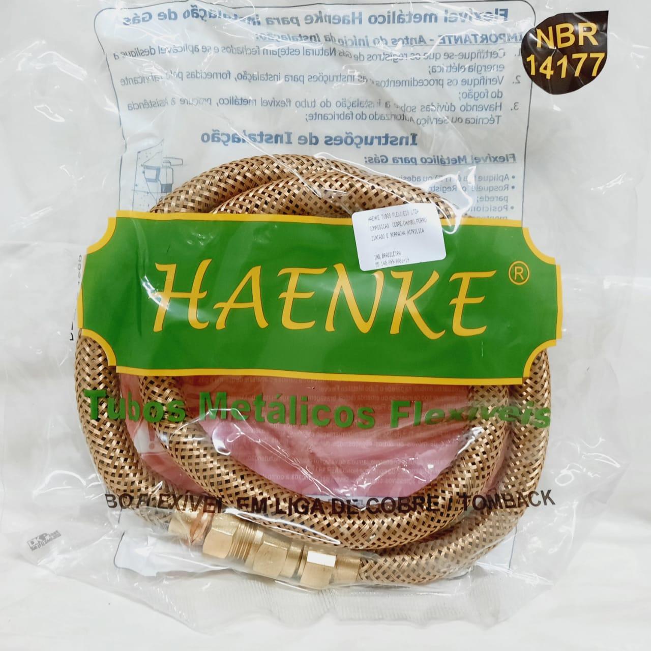 Flexível Tipo COMGÁS 1/2 1000mm Haenke