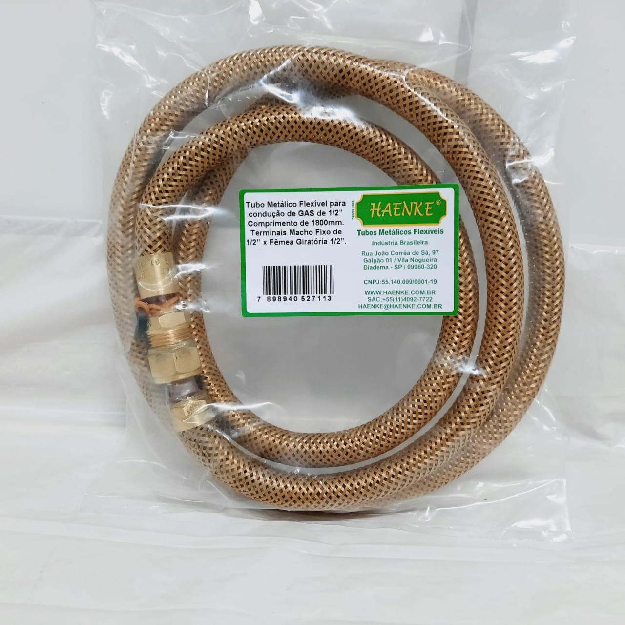 Flexível Tipo COMGÁS 1/2 1800mm Haenke
