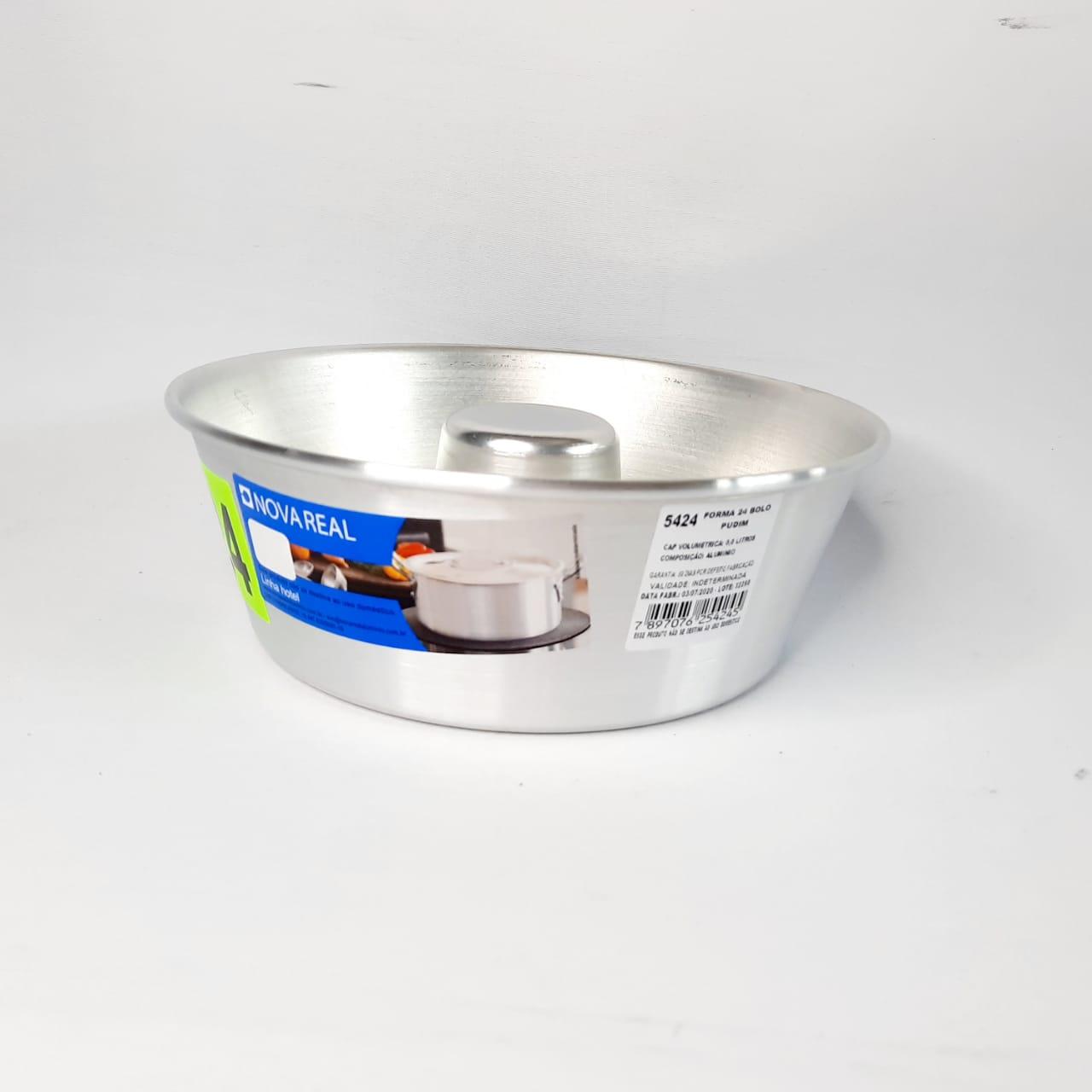 Forma Alumínio Bolo/Pudim N 24 Real
