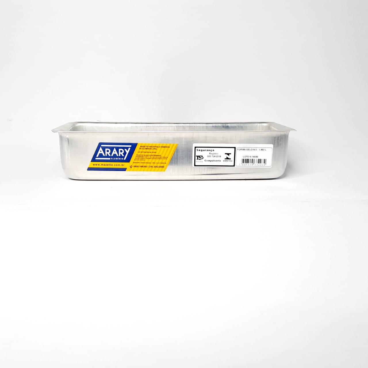 Assadeira Alumínio PAO 1,96 Litros Arary