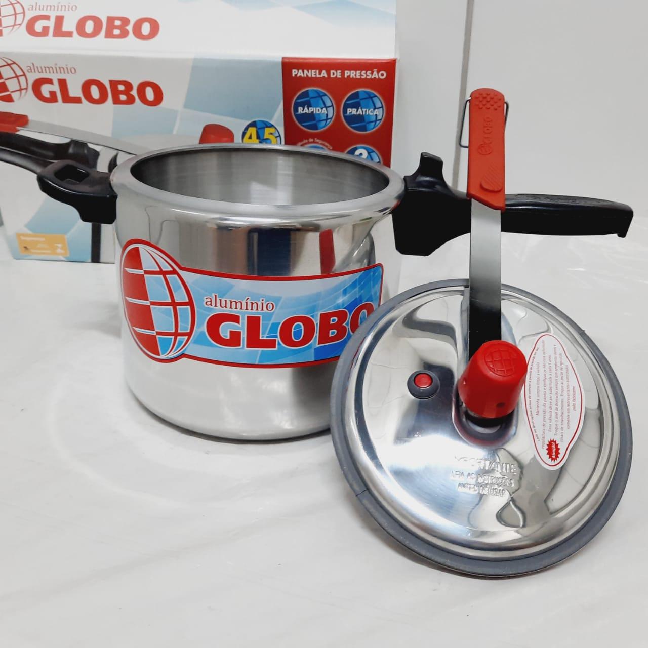 Panela Pressão Globo 4,5 Litros Polida