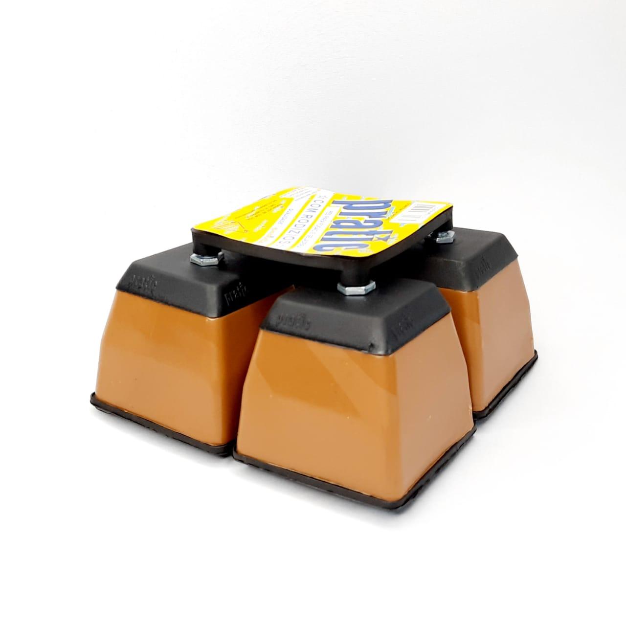 Pé PL FG/GL Quadrado Caramelo Pratic