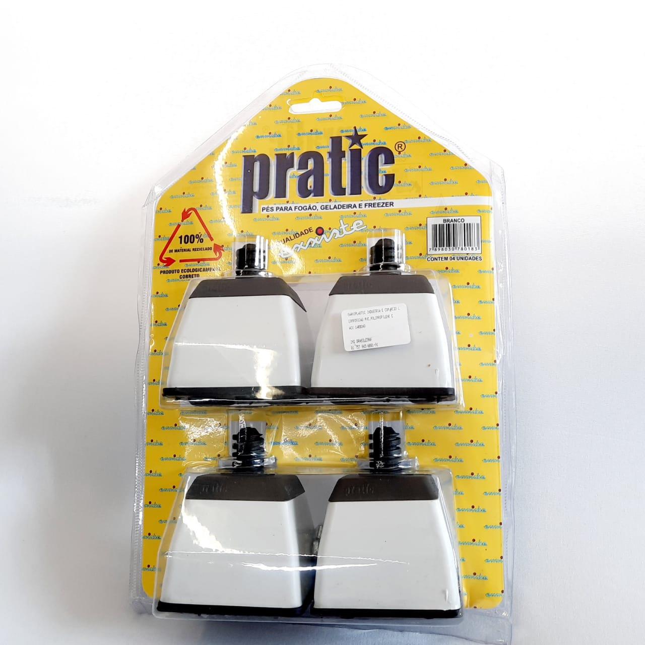 Pé PL Quad Clean Branco Pratic