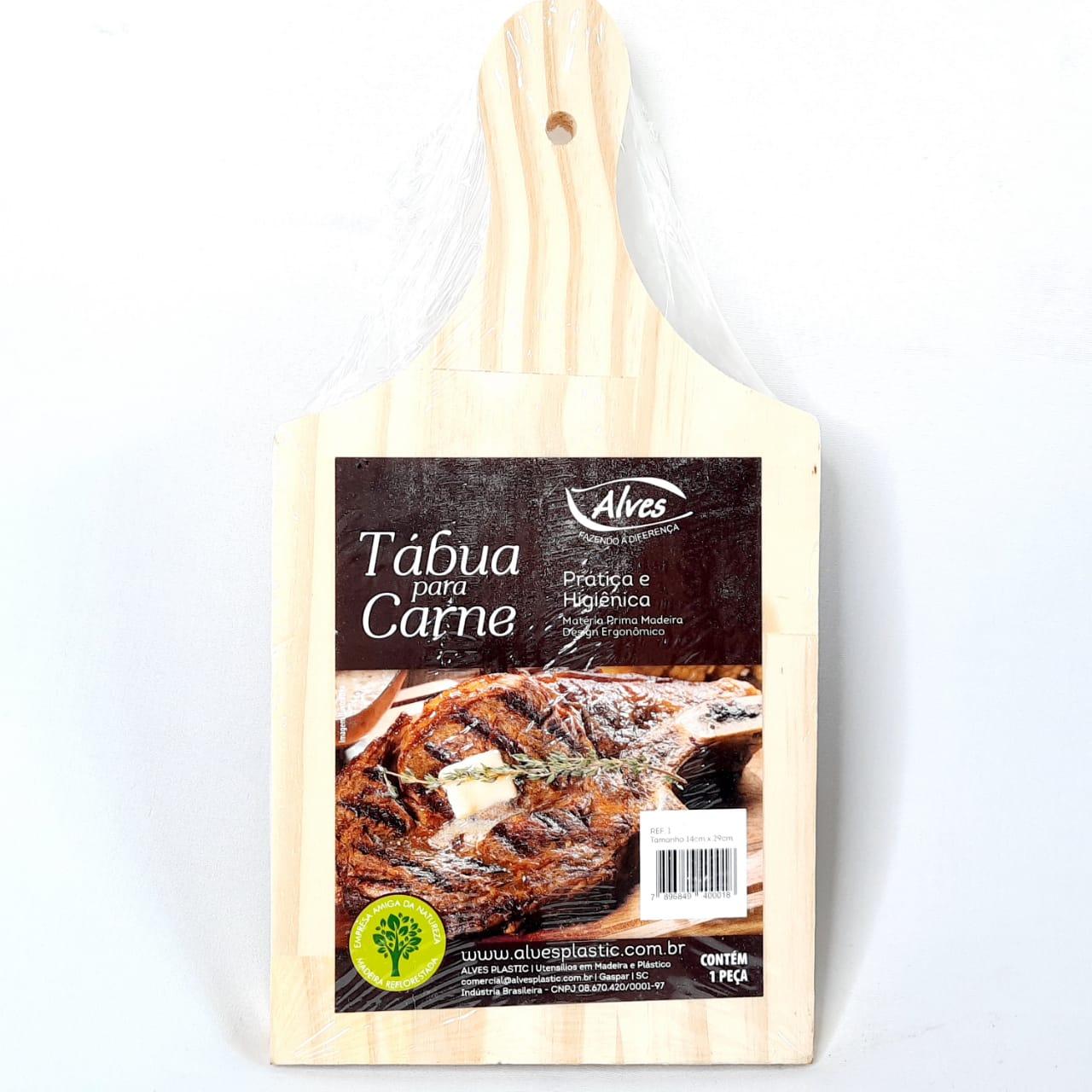 Tábua Madeira P/Carne N 01 Alves