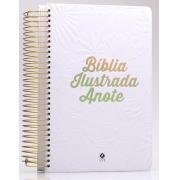 Bíblia Anote Ilustrada | NVT | Capa Tela Branca