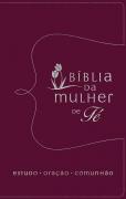 Bíblia da Mulher de Fé | NVI | Capa Couro Vermelha
